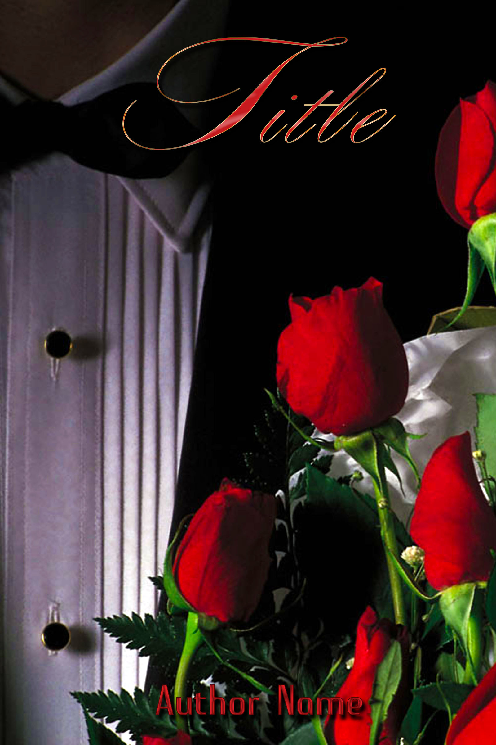 Book Cover Forros S : Man in tuxedo holding red roses the book cover designer