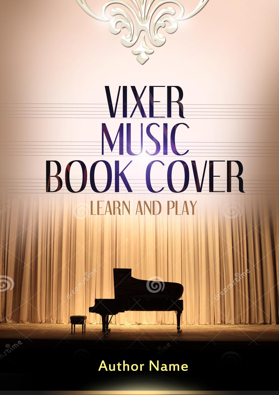 Music Book Cover Design : Piano and music book cover the designer