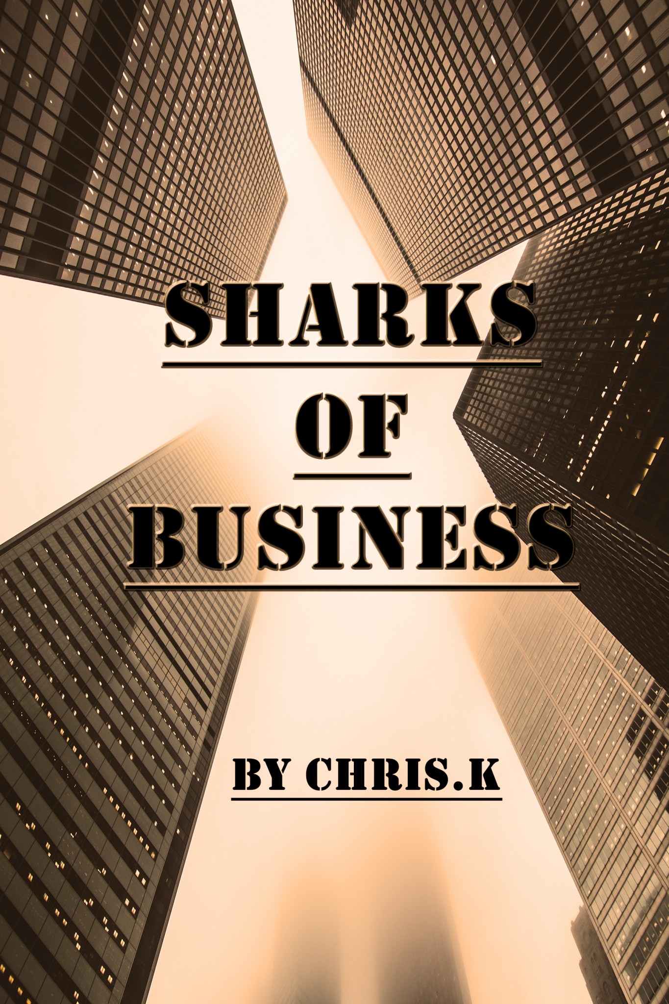 Business Book Cover : Sharks of business the book cover designer