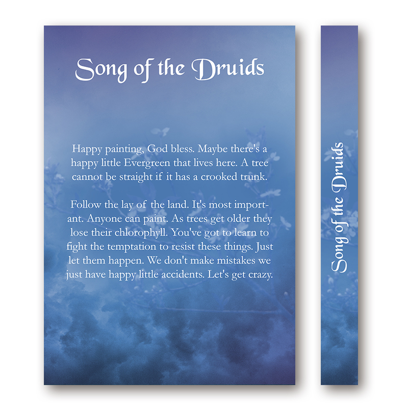 Music Book Cover Design : Song of the druids book cover designer
