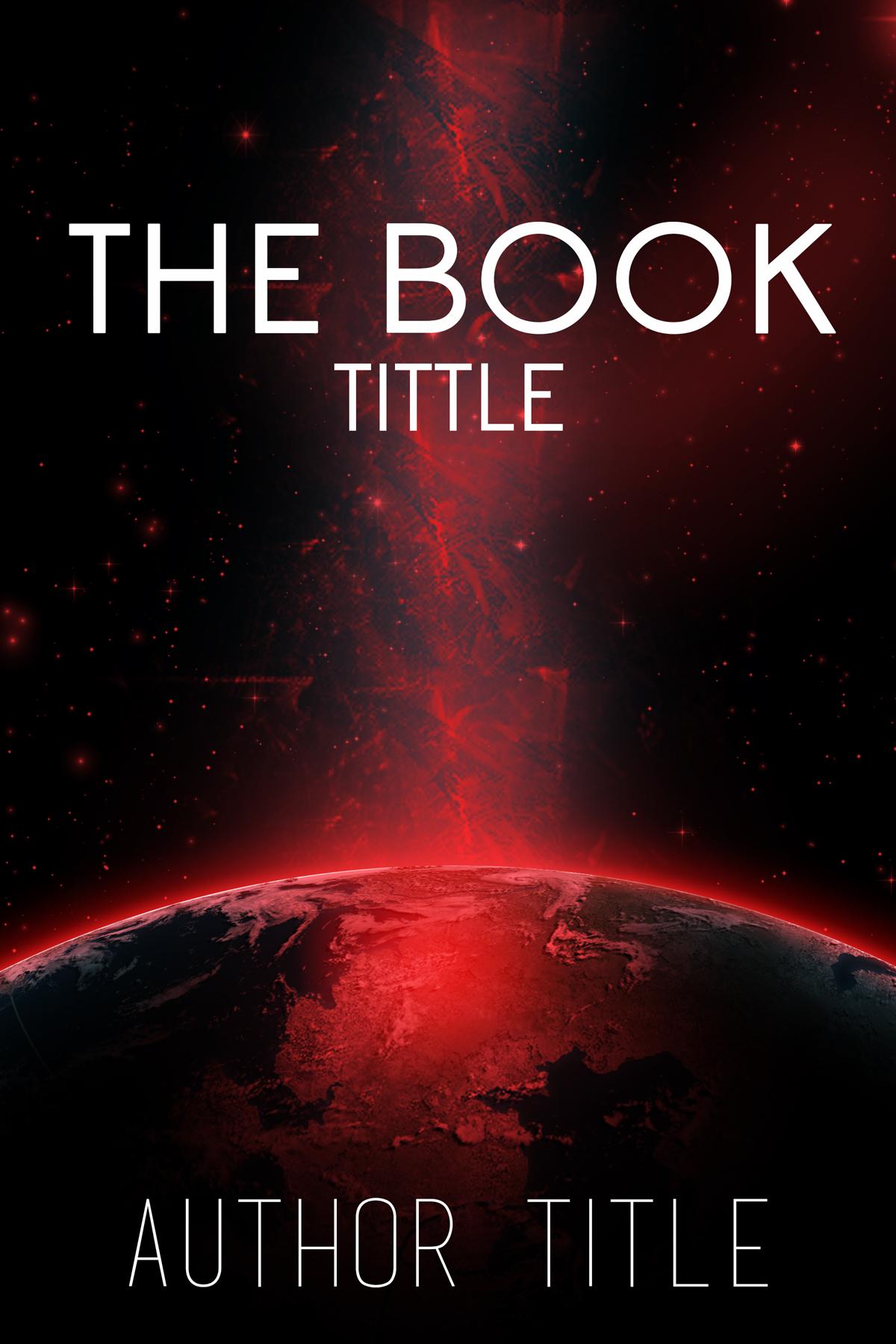 Red Book Cover Design ~ Sci fi book cover red the designer