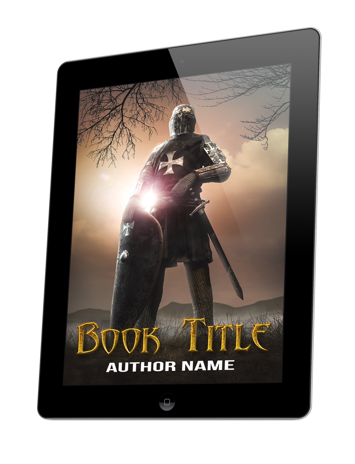 The medieval warrior - The Book Cover Designer