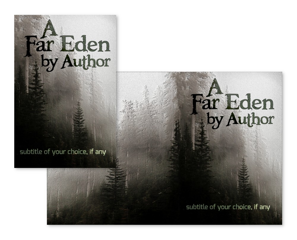 pine mountain forest pre-made book cover