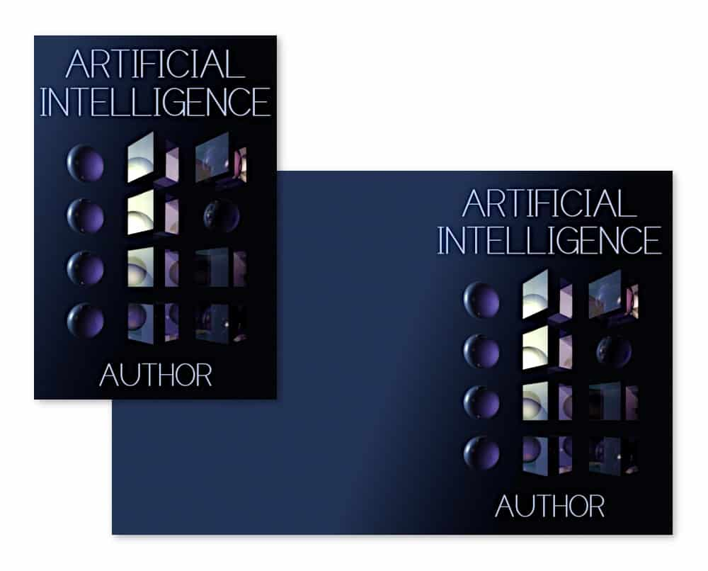 artificial intelligence, a science fiction pre-made book cover
