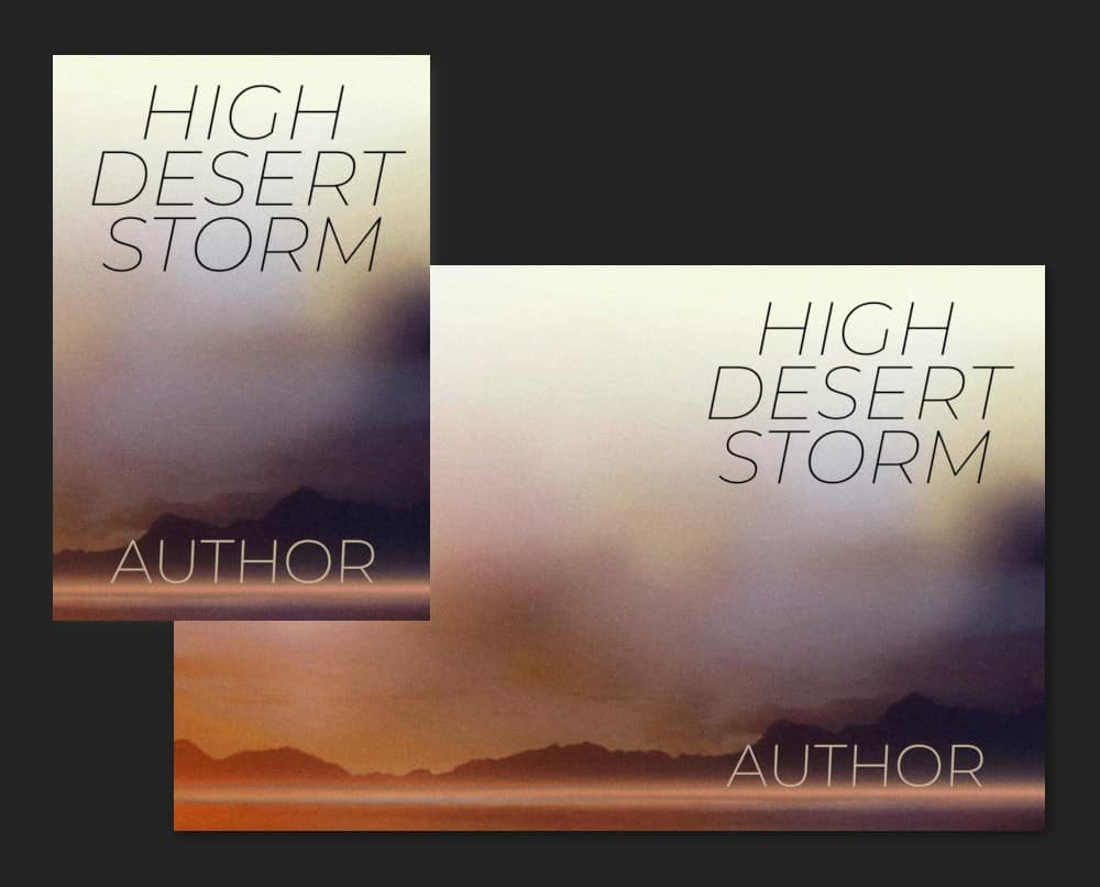 Western Desert stormy book cover