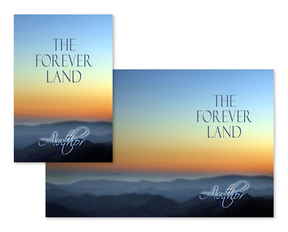 The Forever Land, a beautiful book cover, suitable for many different genres